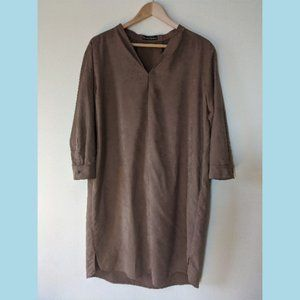 Urban Research Faux Suede Tunic Dress One Size
